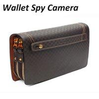 Wholesale Wallet Spy Camera Mini Hidden Camera DVR Surveillance System Wallet Hidden Camcorder AAA Quality Fashion Bag Spy Wallet Camera
