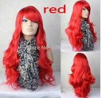 ariel wig - 60cm THE LITTLE MERMAID ARIEL Curly wave red wig cosplay wig a wig cap red