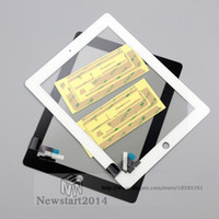 For Apple for ipad2 - Touch Screen Glass Digitizer Assembly Replacement for iPad with free sticker Black White