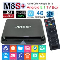 Wholesale Upadted by M8S K TV Box M8S Plus Android Amlogic S812 Quad Core G G Bluetooth D Movie Google IPTV XBMC Kodi Dual Wifi M LAN