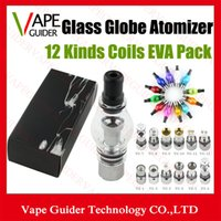 glass globe atomizer - Glass Globe Atomizer Glass Globe Tank Wax And Herb Vaporizer Dual coil Replacement Ceramic Coil Titanium Wick Glass Atomizer Wax Glassomizer