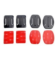 Wholesale pop Flat Curved Adhesive Mount Helmet Accessories For Gopro hero sony