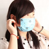 Wholesale 1 X Random Color Unisex Women Lady Men Disposable Surgical Face Salon Dust Ear Loop Medical Mouth Flu Masks