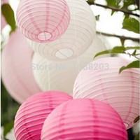 Wholesale 12pcs cm Paper Lantern Rice Paper Lantern Wedding Birthday Party Home Decoration