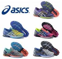 Nuevos zapatos de funcionamiento de Asics Kinsel 6 VI del estilo para los hombres de las mujeres, zapatillas de deporte atléticas respirables respirables ligeras de calidad superior tamaño EUR 36-45