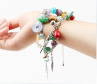 Wholesale New Fashion Beaded Charms Women Bracelet Friendship Link European agate Stone Bracelets Glow In Dark Gift