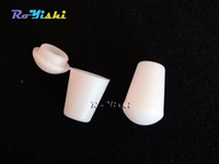 cord stoppers - 100pcs White Plastic Bell Stopper With Lid Cord Ends Lock Stopper Toggle Clip for Paracord Clothes Accessories