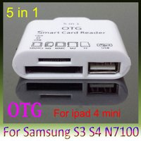 Wholesale USB OTG Connection Kit in Card Reader for Samsung Galaxy S3 i9300 S4 i9500 S5 N7100 NOTE3 for ipad mini