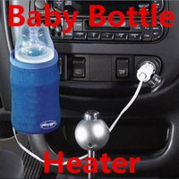 Wholesale Bottle Warmers Car Isothermic Bags V Universal Travel Baby Food Milk Bottle Warmer Heater in Car Heater Milk bottle Water Bottles