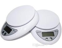 60pcs 5000g 5kg x 1g digital de cocina pesaje electrónico Escala de la dieta alimentaria de Balance