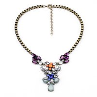 antique manufacturers - Manufacturers Price Retro Antique Gold Flower Tear Sporty Necklace