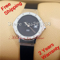 "Cheap free hk shipping _AAA men's watch MDM Quartz ""Midnight Black"", Black Dial - Stainless Steel on Strap (RARE) NO.27"