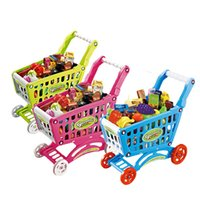 baby food shop - New Baby toys Mini Shopping Cart with Full Grocery Food Toy Playset for Kids CM high quality