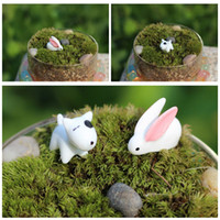 Wholesale DIY Micro Landscape Rabbit Dog Figurines Flower Pots Dish Garden Bonsai Terrarium Tree Decorations DIY Accessories E365J