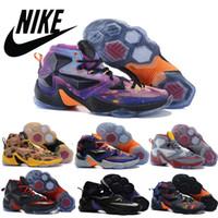 beach fabric - Nike Lebron South Beach Galaxy vibe glow in the dark Mens basketball Shoes Nike lebron james Men sneakers lebrons LJ13 Retro Shoes New