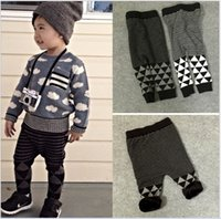 Wholesale 2016 New Baby Boys Girls Knitted Warm Harem Pants Kids Autumn Winter Thicken Cotton Harem Pants Children Loose Casual Trousers Child Clothes