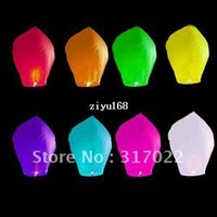 Cheap 15PCS LOT HANMADE COLOURED SKY LANTERNS CHINESE FAY BALLOON CHRISTMAS PAPER LANTERN WISHION LAMP Sky Lanterns