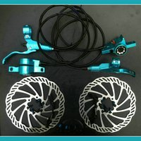 bicycle brake - CSC Colors SkyBlue Hydraulic Disc Brake Sets Bicycle Oil Press Disc Brake MTB Hydraulic CNC processing Disc Brake F160R160 Ultra Light