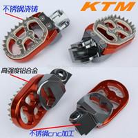 Wholesale CNC WIDE FAT ORANGE foot pegs KTM EXC SX SXF dirt bike parts