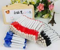 Wholesale Learn essential goods Brush Head Black Ink Whiteboard marker Pen Customized Environmental Erasable Marker