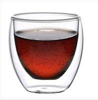 glassware - bodum ml Europe Style Double Wall Glass Coffee Cup Mug Tea cup glassware high quality