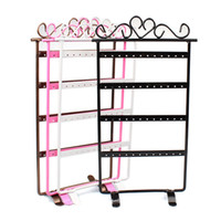 Wholesale Fashion Colors Hole Earrings Displays Rack Metal Jewelry Stand Holder Showcase Jewelry Packaging Display Drop Shipping