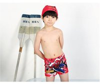 Cheap Fashion New Children's Cartoon Print Swim Trunks Pleasantly Kids Boys' Clothing Swimwear Swimsuit Age 4-11Y 4 Pcs Lot Piece Free Shipping