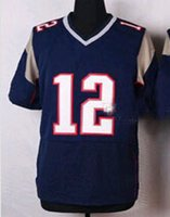american football season - Navy Blue Tom Brady Football Jersey Elite Men s American Football Jerseys New Season Football Shirts Discount Cheap Athletic Uniforms