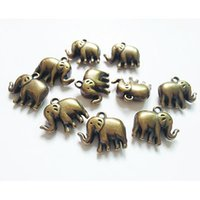 bead animal kits - Acrylic spacer bar beads Elephant antique bronze pendants necklace bracelets earrings charms dangle jewelry making composant findings kit