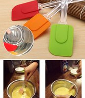 Wholesale New Arrivals Spatula Scraper Butter Spreader Baking Pastry Tools Silicone Plastic Handle Size cm JA46