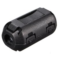 Wholesale New Black Plastic Clip On EMI RFI Noise Suppressor mm Cable Ferrite Core Filters Removable