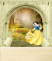 Wholesale 200CM CM fundo Snow White animation world D baby photography backdrop background