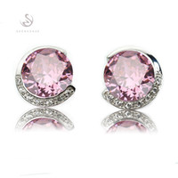 best seller lists - The new listing Best Sellers Noble Generous Christmas gift MN861 Sporty Pink Cubic Zirconia Shinning Copper Rhodium Plated Fashion Earrings