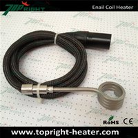 Wholesale ID20 w spring coil Heater pin fully black xlr male plug enail coil heater with black kevlar sleeve