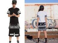 bandana print clothing - 2015 ktz rhude DGK hood by air bandana shirt skateboard pyrex women men hiphop clothes boys Hip hop dance Clothes zipper hba t shirt