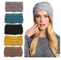 aa fabric colors - Girls Headwrap Ear Warmer Headbands Winter Women Crochet Women Headband Knit Warmer Hairband Colors Christmas Gifts AA