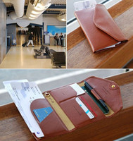 Wholesale men travel credit card wallets leather passport cover coin case purse passport holder women s card holder document organizer bag