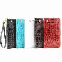 ace crocodiles - Crocodile Flip Leather Wallet Pouch Case For Iphone PLUS G I7 PLUS Samsung Galaxy J1 Ace J2 Lanyard Strap Photo ID Card Stand Skin Cover