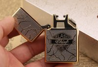arc flashing - Model Rich flower Arc Lighter flash windproof lighter cigarette usb metal lighter gift giving lighters