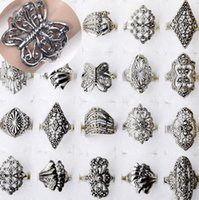 Wholesale X Jewelry Mixed Style Tibet Silver Vintage Rings