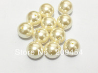 Wholesale 20mm Ivory Color Cream Acrylic Pearl Beads For Chunky Bubblegum Necklace