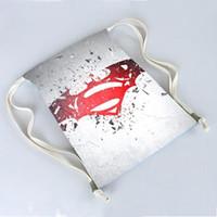 batman logo backpack - Batman V Superman Logo Exclusive Bags Backpack Travel softback Wonmen mochila harajuku drawstring bag unisex backpacks x40cm