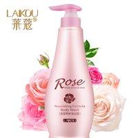 Wholesale Rose essential oil perfume shower gel full body whitening moisturizing milk bath bubble bath