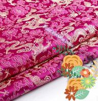 antique doll dress - m width cm Brocade cloth doll dress costume Hanfu antique garments fabrics brocade red dragon