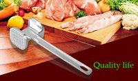 Wholesale Small New Two Sides Aluminum Square Meat Hammer Tenderizer Beef Pork Chicken Beater Kitchen Gadgets Ment Poultry Tools Best Price