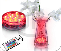 wedding vases - 25pcs RGB Multi colors Remote control colors Submersible LED light LED vases base light for wedding celebration