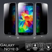 Cheap 9H 0.3mm Tempered Glass Privacy Screen Protector Anti-Spy for Samsung Galaxy Note2 Note3 Note4 Note 2 3 4