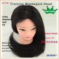 training manikins - Charlie s Angel female Training mannequin manikin head with mix hair quot cm for hairdresser curling straightening cut hair styling