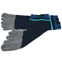 men five fingers socks - New design Pair Fashion Men Ventilation Combed Socks Cotton Fiber Sports Five Finger Socks Toe Socks