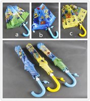 Wholesale Girls boys New Despicable me Umbrella Student Rain and Sun Proof Princess Umbrellas Frozen Long handle Folding Umbrellas